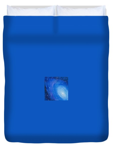 Blue Nebula Duvet Cover