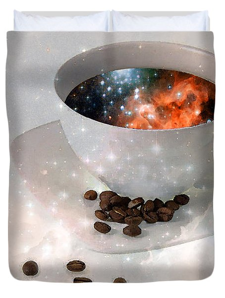 Nectar From Heaven - Coffee Art By Sharon Cummings Duvet Cover by Sharon Cummings