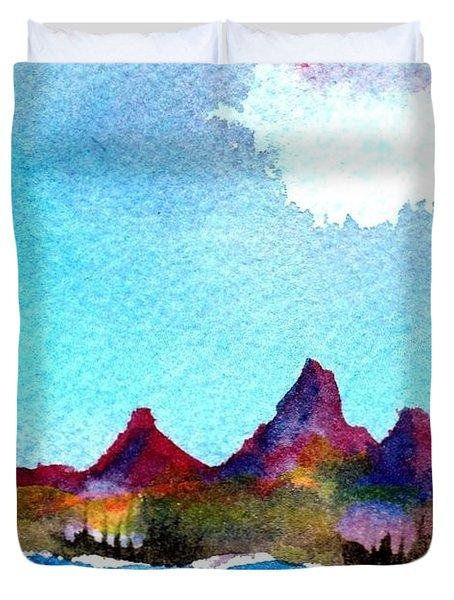 Needles Mountains Duvet Cover by Anne Duke