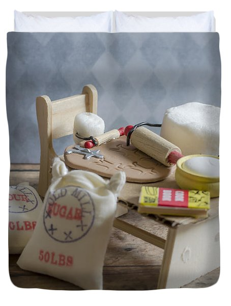 Needs More Sugar Duvet Cover by Heather Applegate