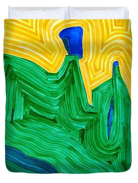 Nefertiti Original Painting Duvet Cover by Sol Luckman
