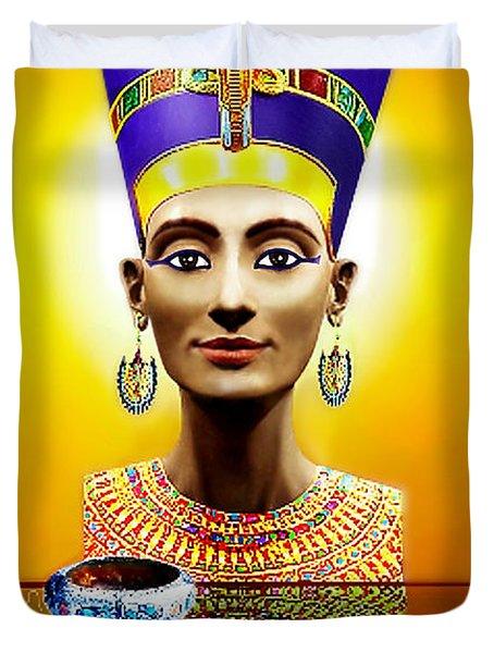 Nefertiti  The  Beautiful Duvet Cover
