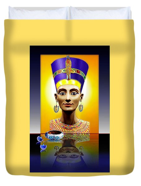 Nefertiti  The  Beautiful Duvet Cover by Hartmut Jager