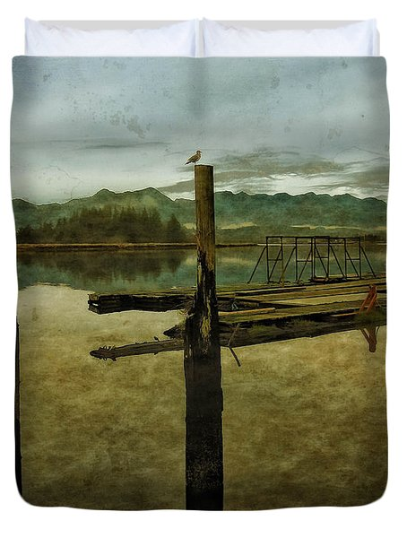 Duvet Cover featuring the photograph Nehalem Bay Reflections by Thom Zehrfeld
