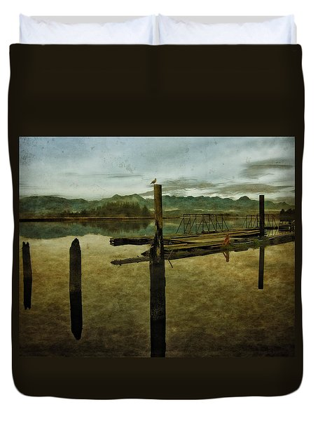 Nehalem Bay Reflections Duvet Cover by Thom Zehrfeld