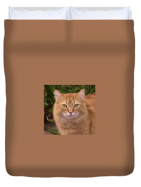 Neighborhood Cat Portrait Duvet Cover