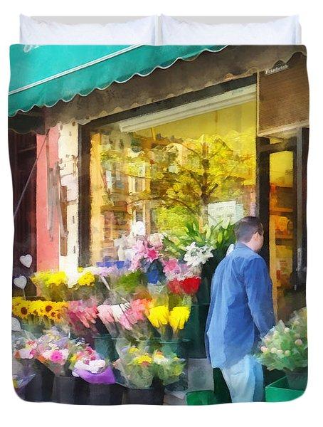 Neighborhood Flower Shop Duvet Cover by Susan Savad