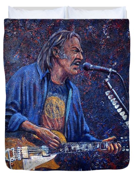 Neil Young Duvet Cover by John Cruse Knotts