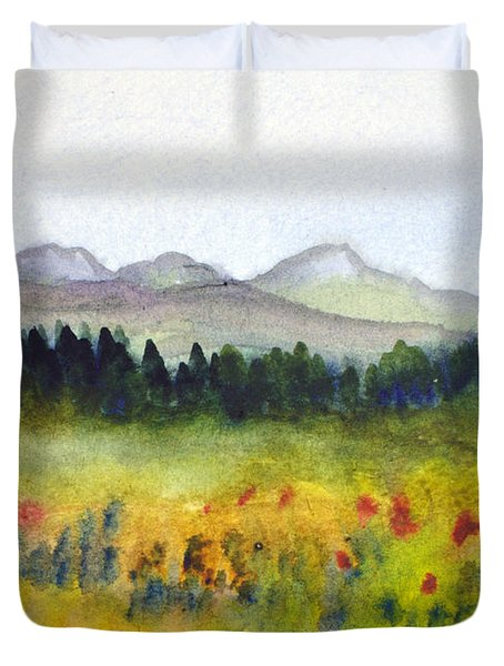 Nek Mountains And Meadows Duvet Cover