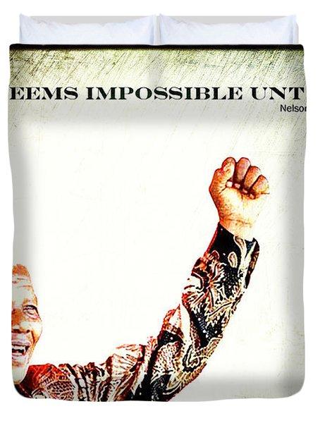 Nelson Mandela Duvet Cover