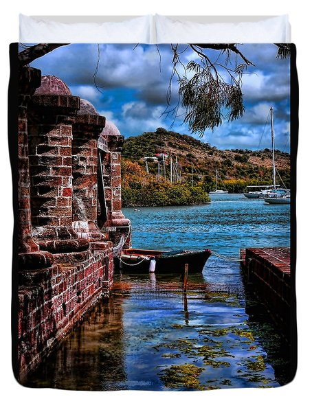 Nelson's Dockyard Antigua Duvet Cover by Tom Prendergast