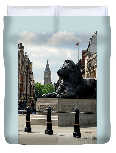Nelson's Lion Duvet Cover