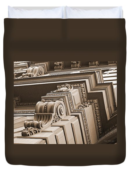 Neo-classical Architecture Duvet Cover