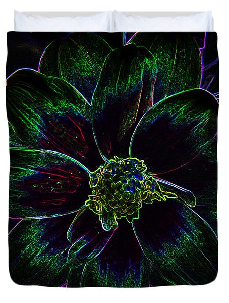 Duvet Cover featuring the photograph Neon Glow by Aimee L Maher Photography and Art Visit ALMGallerydotcom