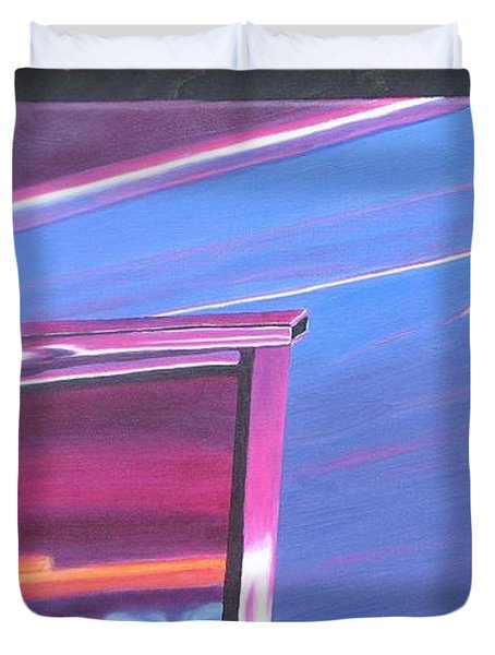 Neon Reflections IIi Duvet Cover