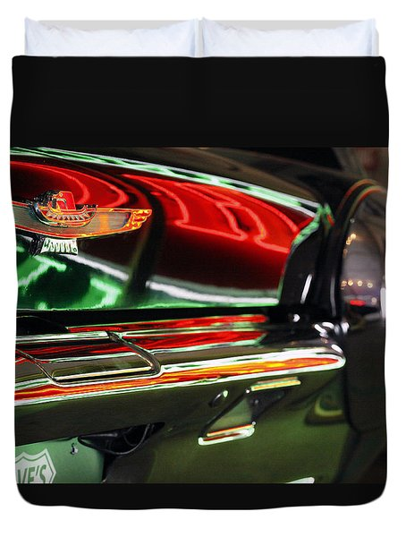 Duvet Cover featuring the photograph Neon Reflections by Shoal Hollingsworth