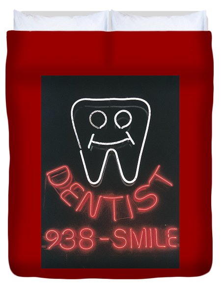 Neon Smile Duvet Cover