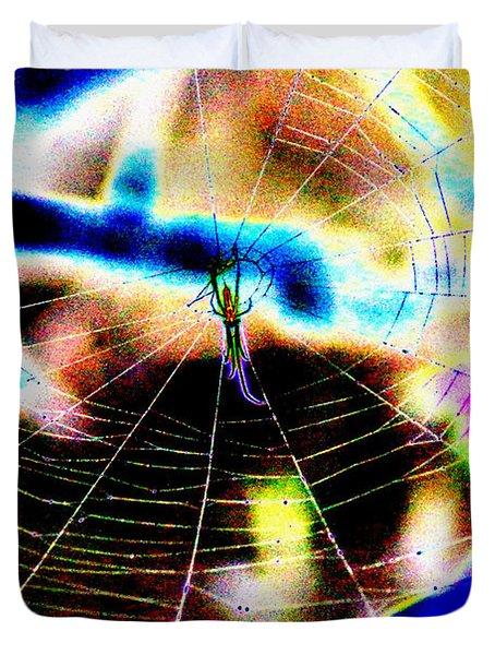 Neon Spider Duvet Cover