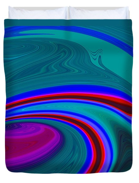 Neon Wave C2014 Duvet Cover