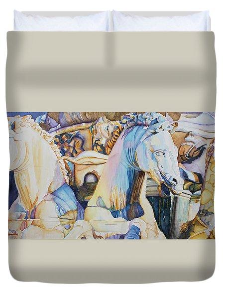 Neptune's Sea Horses - Florence Duvet Cover