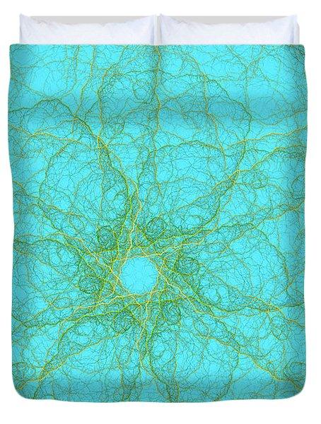 Nerves Green Blue Duvet Cover
