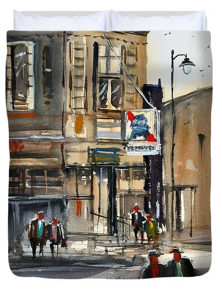Neshkoro Tavern Duvet Cover by Ryan Radke
