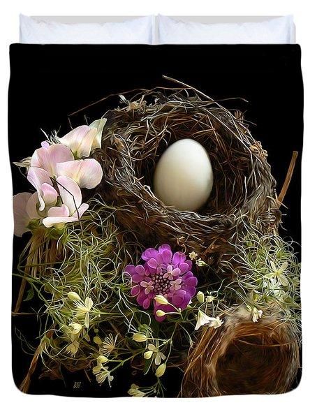 Nest Egg Duvet Cover by Barbara St Jean