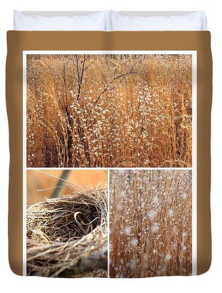 Nest Field Duvet Cover by AR Annahita