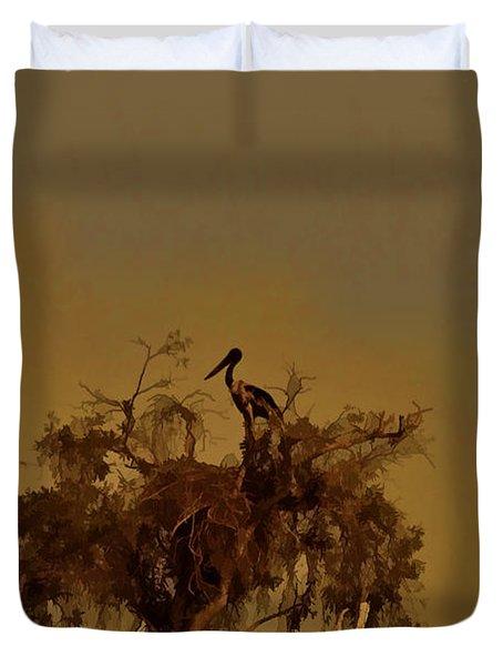 Nesting Jabiru  Duvet Cover