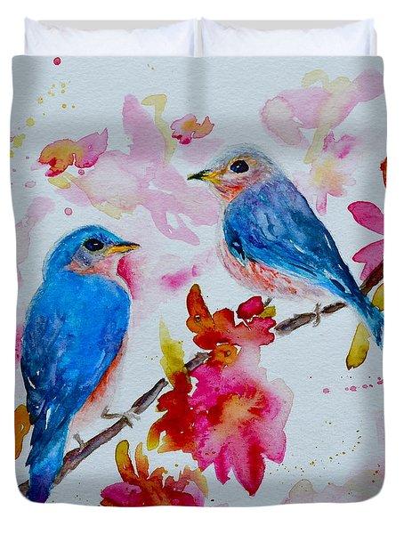 Nesting Pair Duvet Cover by Beverley Harper Tinsley