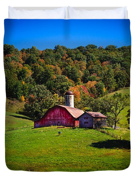 nestled in the hills of West Virginia Duvet Cover