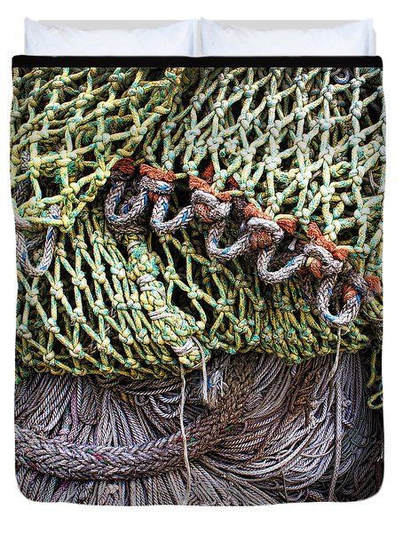 Nets And Knots Number Three Duvet Cover