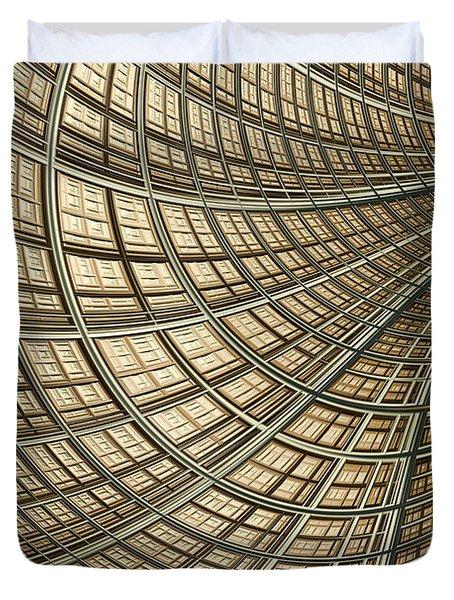 Network Gold Duvet Cover by John Edwards