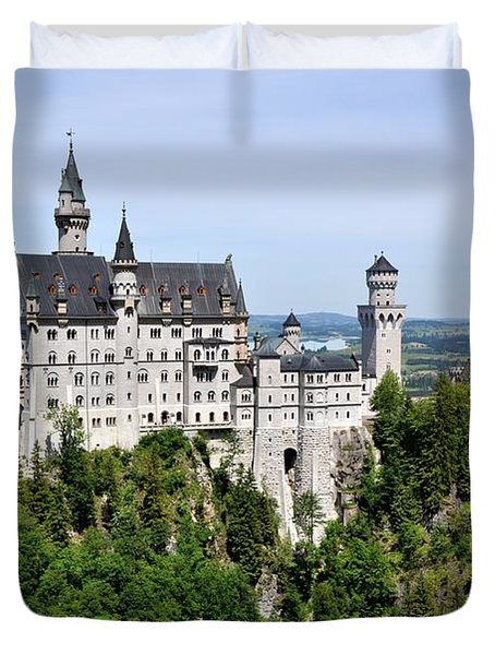 Duvet Cover featuring the photograph Neuschwanstein Castle by Rick Frost