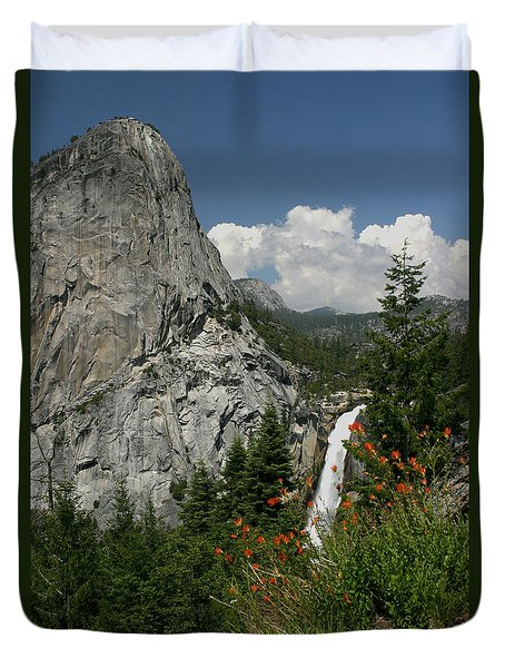 Nevada Falls Yosemite National Park Duvet Cover