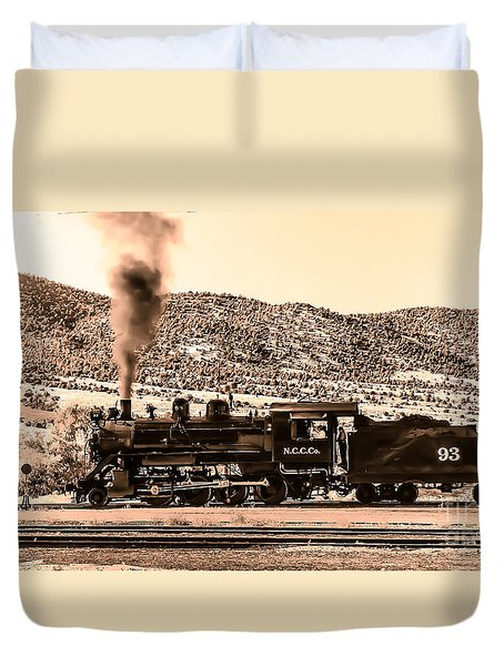 Nevada Northern Railway Duvet Cover