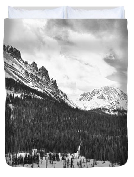 Never Summer Wilderness Area Panorama Bw Duvet Cover by James BO  Insogna