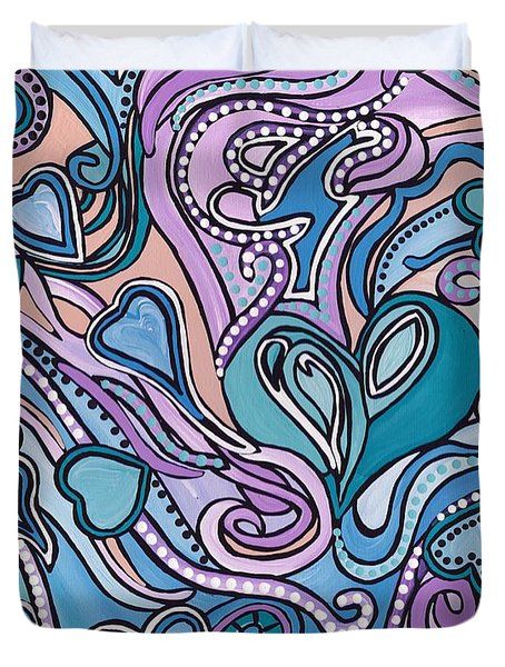 New Age Heart With Soul Duvet Cover by Barbara St Jean