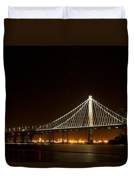 New Bay Bridge Duvet Cover by Bill Gallagher