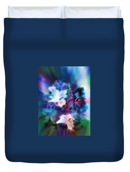 Duvet Cover featuring the digital art New Bouquet by Frank Bright