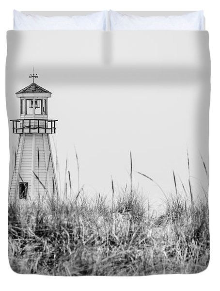 New Buffalo Lighthouse In Southwestern Michigan Duvet Cover