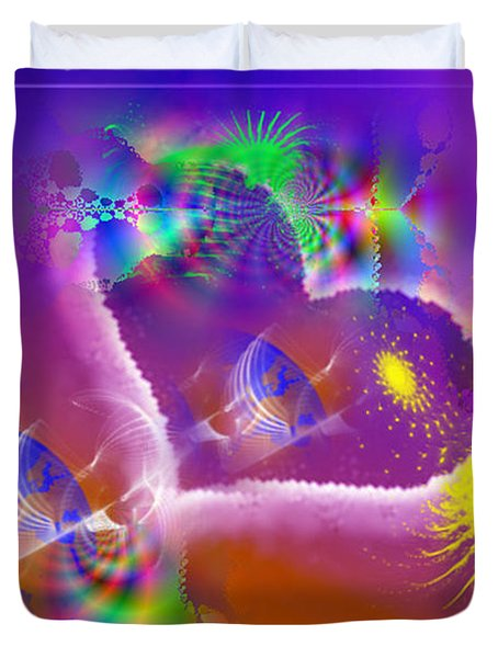 Duvet Cover featuring the digital art New Creation by Ute Posegga-Rudel