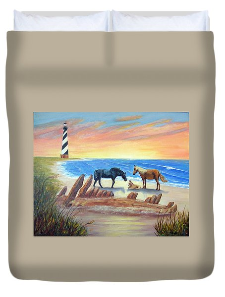 New Day - Hatteras Duvet Cover