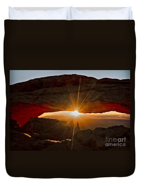 Duvet Cover featuring the photograph New Day by Mae Wertz