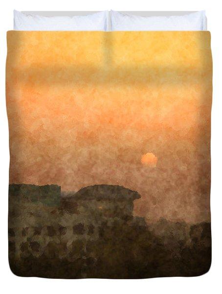 New Delhi Sunset Duvet Cover