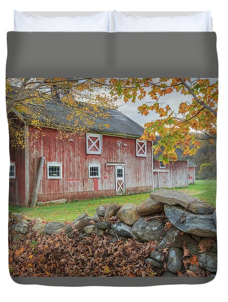 New England Barn Duvet Cover