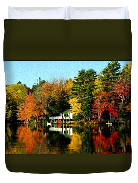 New England Duvet Cover by Bill Howard