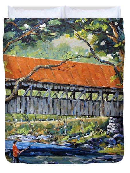 New England Covered Bridge By Prankearts Duvet Cover by Richard T Pranke