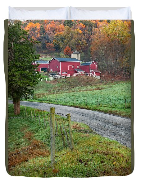 New England Farm Duvet Cover by Bill Wakeley