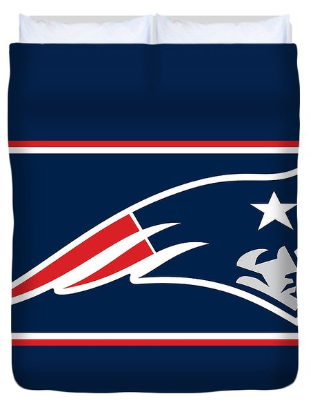 New England Patriots Duvet Cover by Tony Rubino
